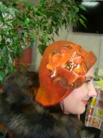 Шляпка с цветком своими руками